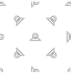 astronaut pattern seamless vector image