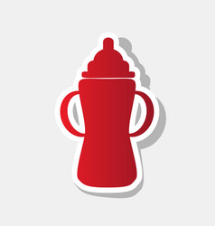 baby bottle sign new year reddish icon vector image