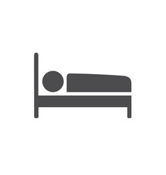 Bed icon for web business finance and vector