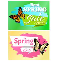 Best spring sale 70 off stickers set butterflies vector