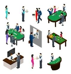 Casino Isometric Set vector image