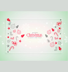 christmas festival background with decorative vector image