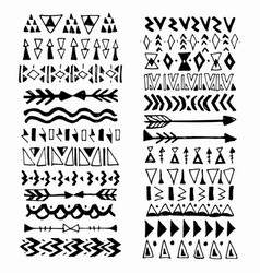 collection of handdrawn borders in ethnic style vector image
