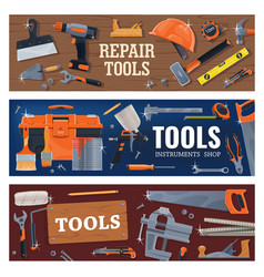 construction and diy tools vector image