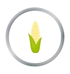 Corn icon cartoon Singe vegetables icon from the vector