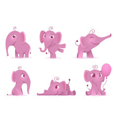 cute baby elephants wild african funny adorable vector image