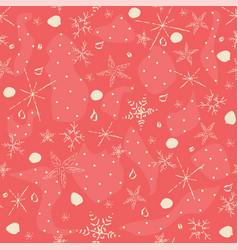 Cute hand drawn winter pattern seamless pattern vector