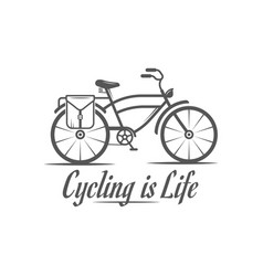 Cycling is life logotype vector