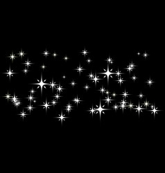 dark background with white stars vector image