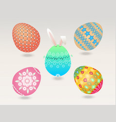 easter egg object vector image
