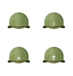 flat vintage world war ii army helmet graph vector image