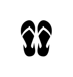 flip flop icon design template isolated vector image