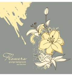 Flowers for your greeting card vector