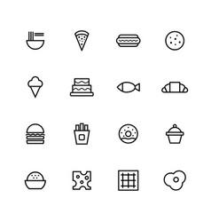 food icon vector image