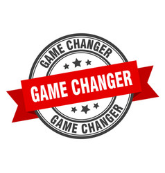 game changer label game changer red band sign vector image