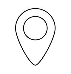 gps location cartoon vector image