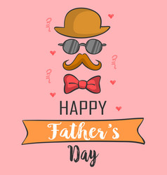 greeting card for father card vector image vector image