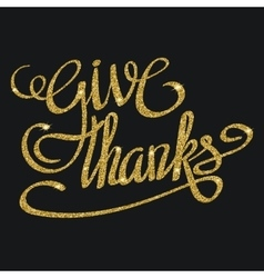 Happy thanksgiving day greeting card with hand vector