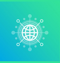 International business trade global market icon vector