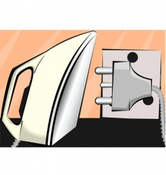 Iron box and electric pin vector image