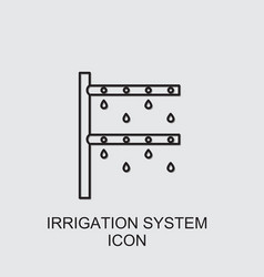 Irrigation system icon vector