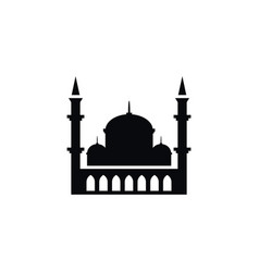 Isolated islam icon minaret element can be vector