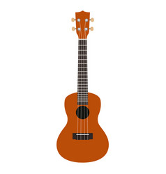 isolated wooden guitar vector image