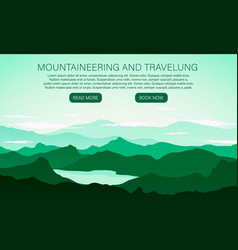 landscape with mountain peaks vector image