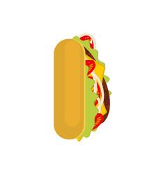 Letter i tacos mexican fast food font taco vector