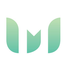 letter m eco leaves logo icon design vector image