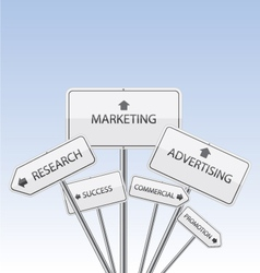 Marketing white signs vector image