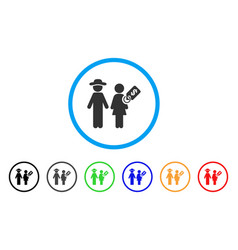 Marriage of convenience rounded icon vector