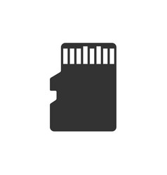 micro sd memory card icon isolated flat design vector image