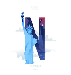 new york city t shirt graphics tee print design vector image