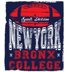 New york varsity sport print and varsity for vector