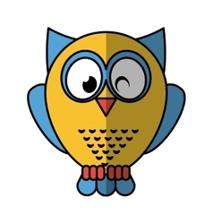 owl bird isolated icon vector image