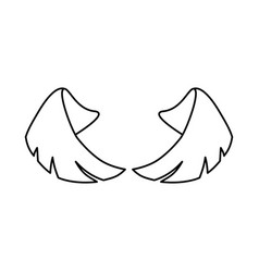 pair of wings vector image