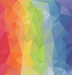 pastel rainbow full spectrum polygon triangular vector image