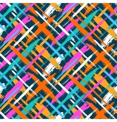 Pattern with diagonal stripes and crosses vector