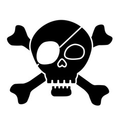 Pirate skull symbol vector