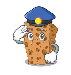 Police granola bar character cartoon vector