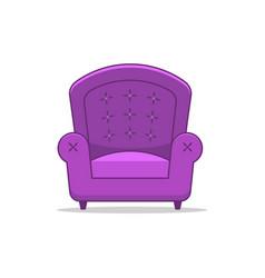 Purple stylish armchair vector