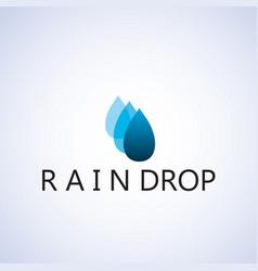 Raindrop logo ideas design vector