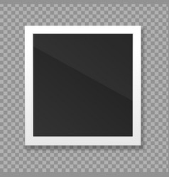realistic detailed 3d blank photo frame vector image