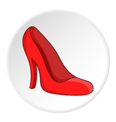 Red women shoes icon cartoon style vector image