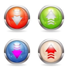 Set Glossy Download and Upload Buttons vector image