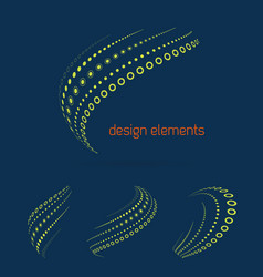 set of abstract logo design templates in light vector image