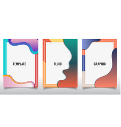 set template design modern cover brochure vector image