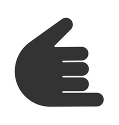 shaka hand gesture glyph icon vector image