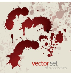 Splattered blood stains set 2 vector image